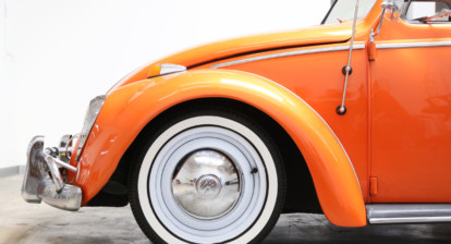 Install VW Beetle white walls