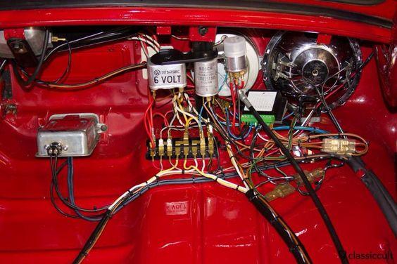 VW Beetle electrical wiring diagram