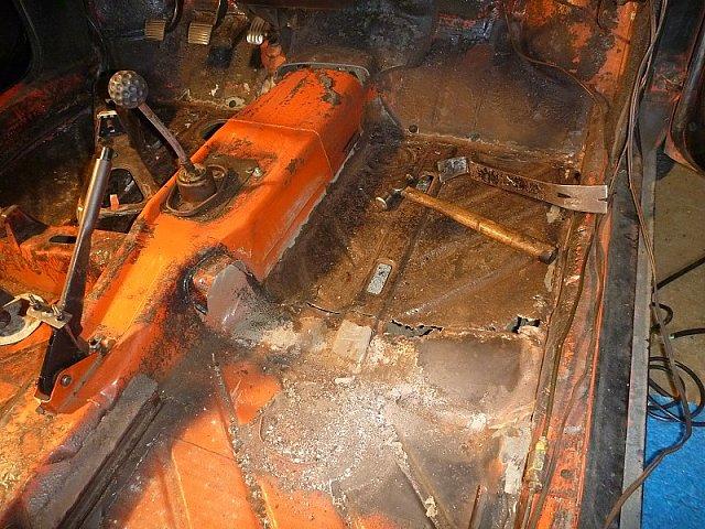 VW Beetle floor panels rust