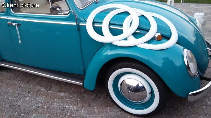 VW Beetle white wall tires