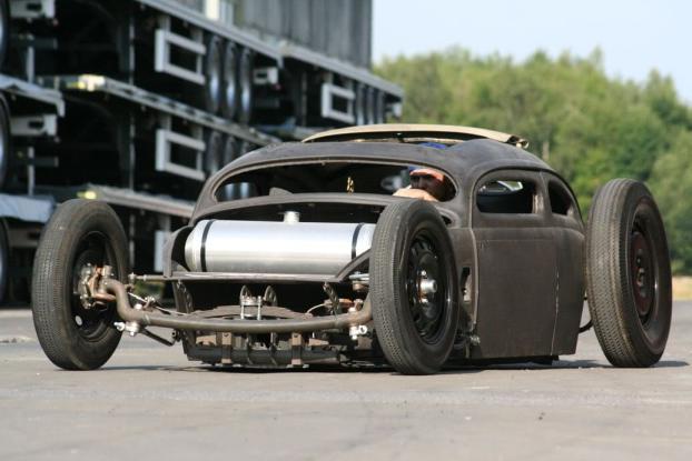 VW Beetle Rat Rod during the Vegas Rat Rods show