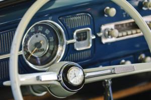Custom VW Bug steering wheel