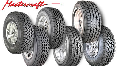Who makes Mastercraft tires?