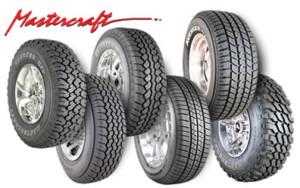 Who makes Mastercraft tires?