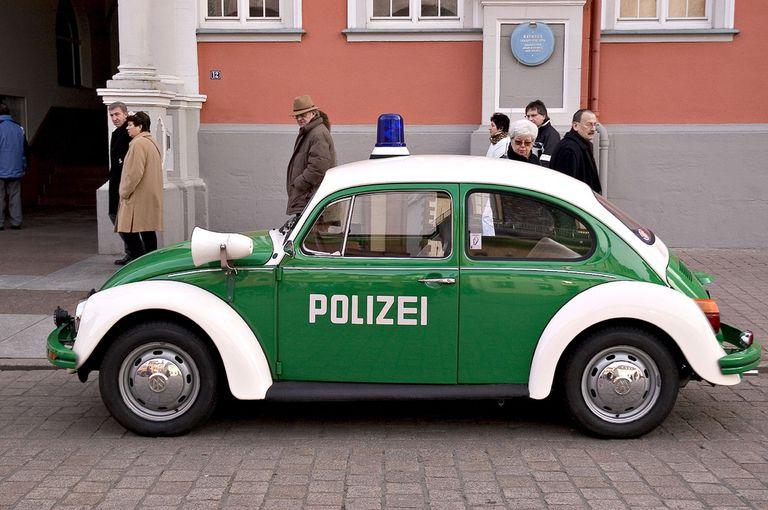 VW Beetle Police Car Polizei in Germany