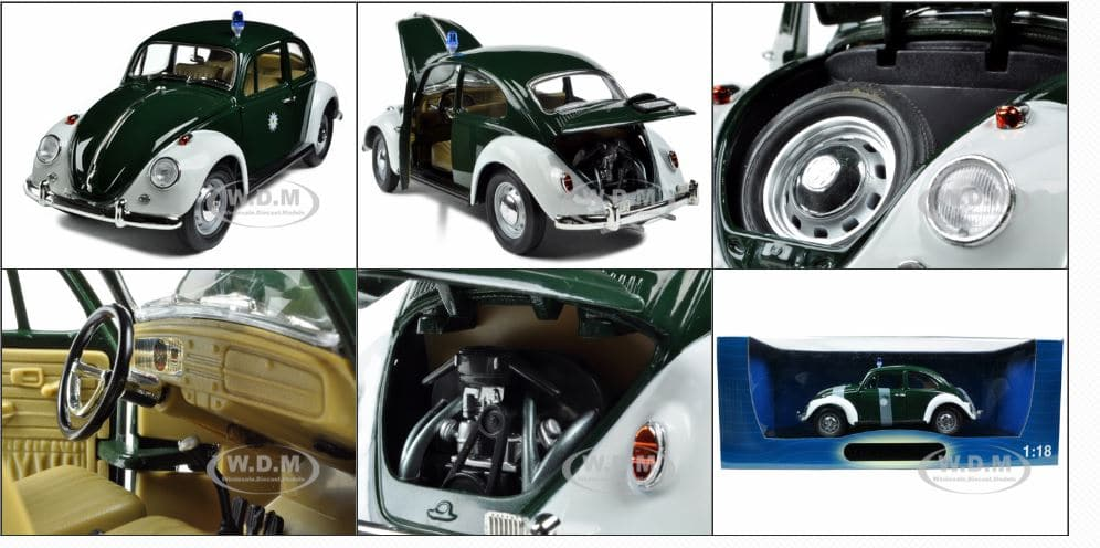 VW Beetle Police car Diecast model from Germany