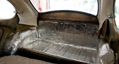 how to install sound deadening insulation in a vw beetle and bus