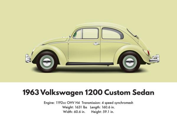 1963 VW Beetle specs