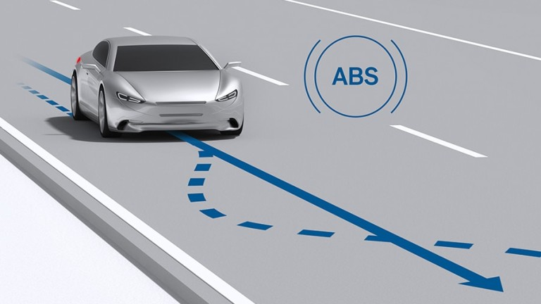 What does the ABS light mean? When the ABS light is on, this means that your wheels are in danger of locking up.