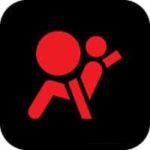 Airbag indicator warning light