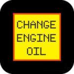 Oil change reminder warning light
