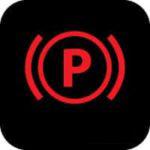Parking brake warning light