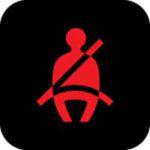 Seat belt warning light