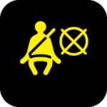 Side airbag warning light