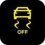 Traction control off warning light